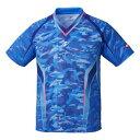 【ニッタク】 スカイカモフラシャツ(ユニセックス) [サイズ:XO] [カラー:ブルー] #NW-2193-09 【スポーツ・アウトドア:卓球:ウェア:メンズウェア:シャツ】【NITTAKU SKYCAMOUFLA SHIRT】