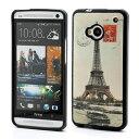 【HTC One】 HTC One M7 801e(グローバル版) TPUケース レトロエッフェル塔 【電化製品:スマートフォン:スマートフォンアクセサリー】