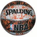 【スポルディング】 グラフィティ バスケットボール 7号球 [カラー:ホワイト×ブラック×オレンジ] #73-722Z 【スポーツ・アウトドア:スポーツ・アウトドア雑貨】【SPALDING】