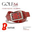 【GOLFish -ゴルフィッシュ-】たくさんのハトメがかっこいい、ダブルピンのギャリソンバックル。 ゴルフウェアにアクセント、ゴルフをスタイリッシュに楽しむメ...