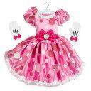 【あす楽】 ディズニー Disney US公式商品 ミニーマウス ミニー ドレス 洋服 コスチューム 衣装 服 コスプレ ハロウィン ハロウィーン 子供 キッズ 女の子 男の子 並行輸入品 Minnie Mouse Pink Dress Costume for Kids グッズ ストア プレゼント ギフト 誕