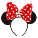 【あす楽】 ディズニー Disney US公式商品 ミニーマウス ミニー ヘッドバンド カチューシャ 耳 子供用 ヘアアクセサリー イヤーヘッドバンド アクセサリー バンド リボン 並行輸入品 Minnie Mouse Ear Headband - Red Bow グッズ ストア プレゼント クリ