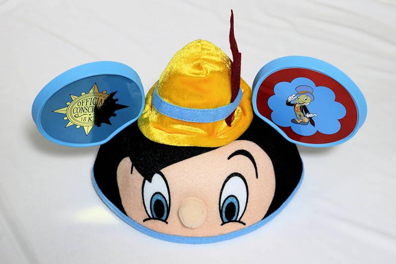 【1-2日以内に発送】ディズニー Disney US公式商品 ピノキオ ジミニークリケット イヤーハット 耳キャップ 耳ハット ミッキー 耳 帽子 ハット キャップ 【大人子供兼用】 [並行輸入品] Disney Parks Pinocchio Jiminy Cricket mickey ears hat adult size, New Free