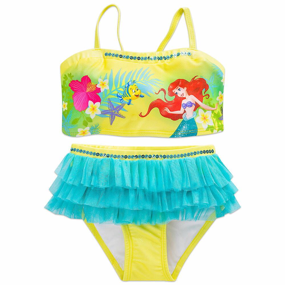 【1-2日以内に発送】ディズニー Disney US公式商品 リトルマーメイド アリエル Ariel プリンセス 水着 スイムウェア 子供服 ベビー服 女の子用 子供用 2点セット 服 女の子 ガールズ [並行輸入品] Swimsuit for Girls - 2-Piece グッズ ストア プレゼント ギフト