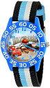 【あす楽】 ディズニー Disney カーズ Cars 腕時計 時計 うでどけい とけい ウォッチ 子供用 キッズ 女の子 男の子 [並行輸入品] Disney Kids' W001953 Blue Character Watch with Tricolored Band グッズ ストア プレゼント ギフト 誕生日 人気 クリスマス 誕生日