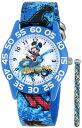"""【1-2日以内に発送】ディズニー Disney ミッキーマウス 腕時計 時計 うでどけい スケボー スケートボード とけい ウォッチ 子供用 キッズ 女の子 男の子 [並行輸入品] Disney Kids' W001178 """"Mickey Mouse"""" Watch with Blue Nylon Band グッズ ストア"""