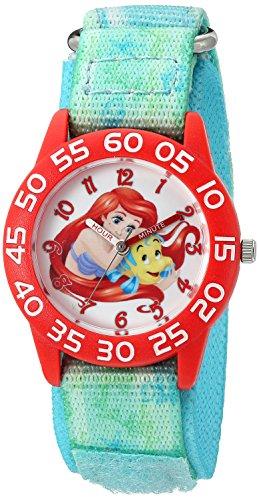 【1-2日以内に発送】 ディズニー Disney リトルマーメイド アリエル Ariel プリンセス 腕時計 時計 うでどけい とけい ウォッチ 女の子 ガールズ 子供用 ベビー [並行輸入品] Disney Girl's 'Ariel' Quartz Plastic and Nylon Automatic Watch, Color:Green (Model: W