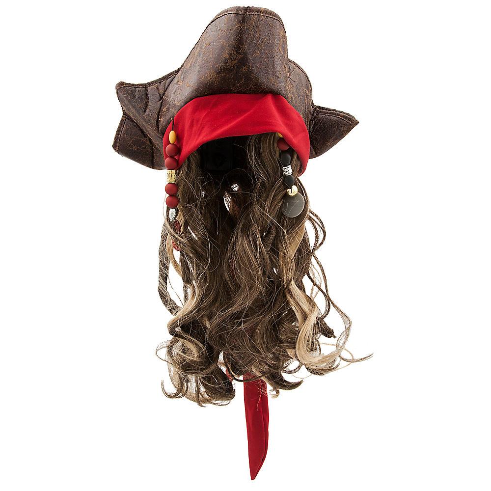【1-2日以内に発送】ディズニー Disney US公式商品 パイレーツオブカリビアン ジャックスパロー パイレーツ ウィッグ 付け毛 コスチューム ハロウィーン ハット 帽子 キャップ 物語 日よけ 服 子供用 キッズ 女の子 男の子 [並行輸入品] Jack Sparrow Pirate Hat a