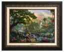 ショッピングトーマス 【取寄せ】 ディズニー Disney ジャングルブック 絵画 絵 アート キャンバス インテリア 装飾 デザイン 壁 額付き フレーム付き (Aged Bronze Frame) Thomas Kinkade トーマスキンケード [並行輸入品] Thomas Kinkade The Jungle Book - Canvas Classic (Aged Bronze Fr