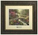 【取寄せ】 風景 景色 自然 絵画 絵 アート プレステージホームコレクション インテリア 装飾 デザイン 壁 額付き フレーム付き (Bronzed Gold Frame) Thomas Kinkade トーマスキンケード 風景画 [並行輸入品] Thomas Kinkade Bridge of Faith - Prestige Home Collecti