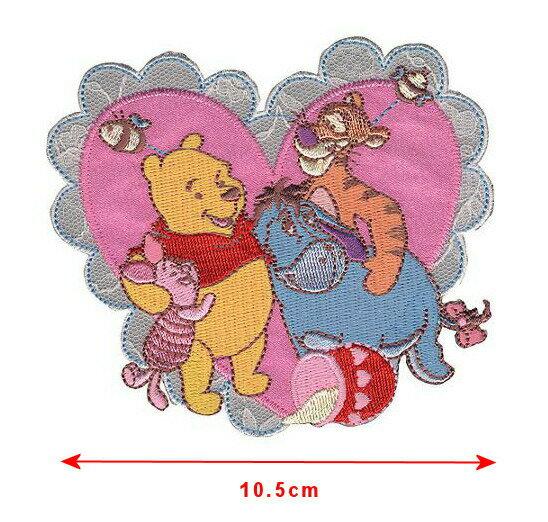 【1-2日以内に発送】ディズニー Disney くまのプーさん アイロンで取り付けるアップリケ ワッペン 布 アップリケ 手芸 クラフト 針仕事 縫製 雑貨 [並行輸入品]Disney Winnie the Pooh, Pooh and Friends Heart Iron-On Applique キ【02P18Jun16】