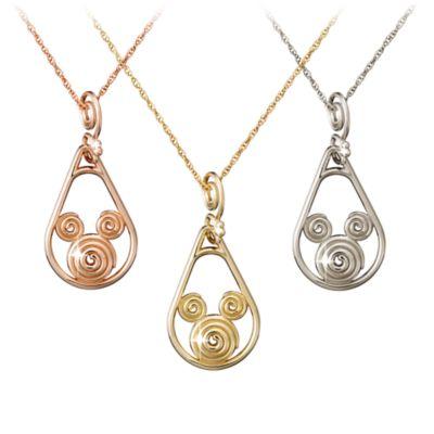【取寄せ】ディズニー Disney US公式商品 ミッキーマウス ネックレス ジュエリー アクセサリー 18金 ゴールド [並行輸入品] Mickey Mouse Gold Coiled Necklace - 18K