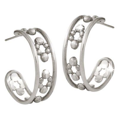 【取寄せ】ディズニー Disney US公式商品 ミッキーマウス ピアス ジュエリー アクセサリー [並行輸入品] Mickey Mouse Half Hoop Earrings