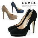 COMEX コメックス パンプス ヒール13cm ピンヒール ラウンドトゥ スエード プラットフォーム パンプス COMEX 靴(7193s) 美脚パンプス スエード 【送料無料】
