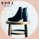 ブーツ ショートブーツ ファー ボア ハイヒール ラウンドトゥ 太ヒール ヒール6cm スエード ブラック EVOL (30322) 【送料無料】