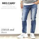 【2020年秋冬新作】 レッドカード RED CARD ショア— Shore イージーデニムパンツ Easy skinny 『Mid Used』33818-md メンズ 28インチ-34インチ 日本製 国産ブランド / REDCARD インディゴ ヴィンテージ ストレッチ 細身 スリム イージーパンツ