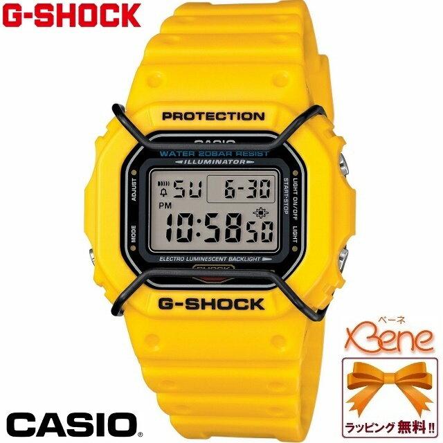 【正規品・送料無料!】CASIO/カシオ G-SHOCK/ジーショック ベーシックモデル プロテクター スクエア イエロー 黄色 DW-5600P-9JF 90年代に絶大な人気を得たデザインを継承した、カジュアルスタイルに映えるプロテクターをまとったスクエアフェイス♪