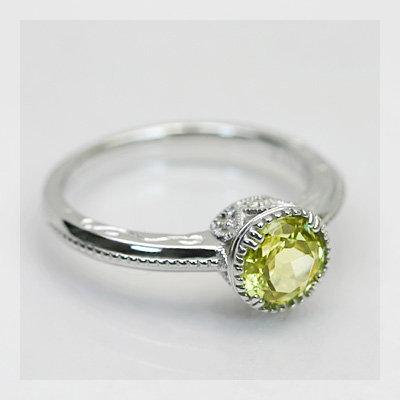 【送料無料】 マリガーネットXダイヤモンド 横顔エレガントリング K18 リング マリガ-ネット ダイヤモンド