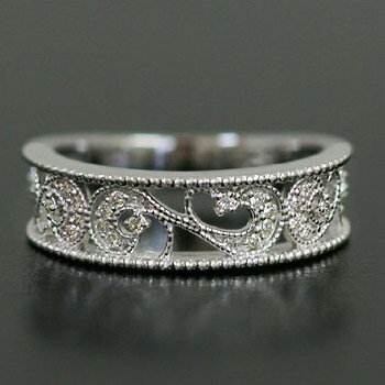 「ミル・オリエンターレ」 ダイヤモンド リング K18 リング ダイヤモンド 【送料無料】透かし感あるフォルムにダイヤを散りばめた美しい仕上がりです。