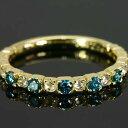 ショッピング指輪 ブルートリートダイヤモンド ローズカットダイヤモンド ストレートリング 誕生石 4月