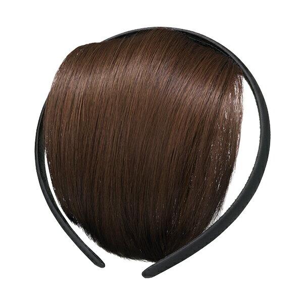 資生堂 クリエーターズマルシェ バング付きカチューシャJY サテンBK/BR【自然なブラウンの前髪】