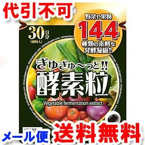 医食同源ドットコム ぎゅぎゅ〜っと酵素粒 60粒 メール便送料無料