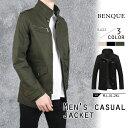 メンズ ジャケット ブラック ブラウン ネイビー アウター 大きいサイズ 2XL XXL カジュアル シンプル ハイネック 秋冬