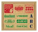 ◆【スタンプ/ゴム印】木製英語評価印セット【SOH-006】...