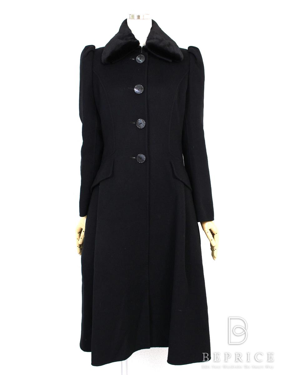 FOXEY BOUTIQUE フォクシー コート ミンクファー衿付 【38】【Aランク】【中古】tn280714