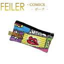 メール便 送料無料 フェイラー フラット ポーチ M10 コミックス Comics FEILER Chenille Flat Pouch