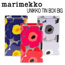 マリメッコ marimekko ウニッコ UNIKKO TIN BOX ビッグ 缶 ケース 64459 【あす楽対応】【HLS_DU】【RCP】