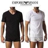 エンポリオアルマーニ 【 3枚セット 】 Vネック Tシャツ 半袖 メンズ ロゴあり アンダーウェア CC712 110856