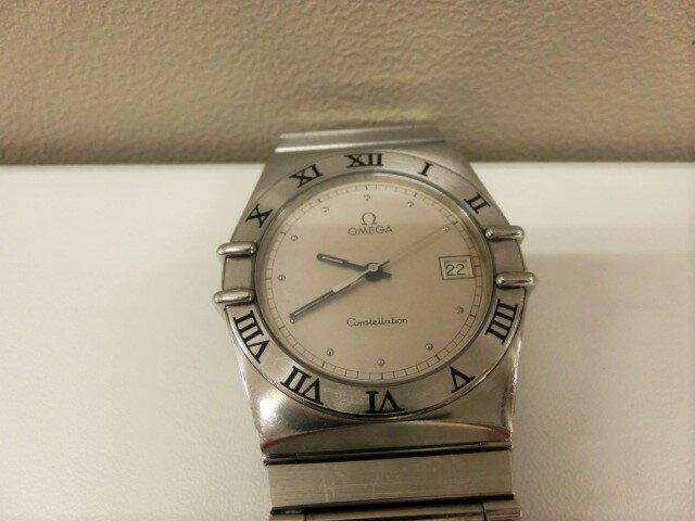 オメガ OMEGA コンステレーション デイト 396.1070 クォーツ SS メンズ 腕時計 アイボリー文字盤☆ 【】 【送料無料】 sb27