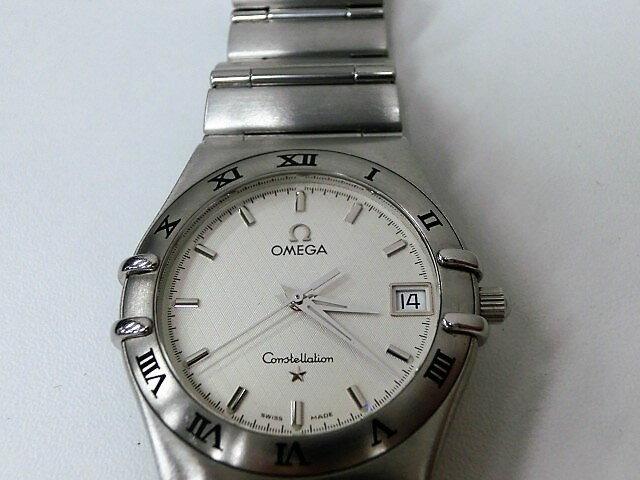 オメガ コンステレーション 396.1201 デイト クォーツ SS メンズ 腕時計 白文字盤 OMEGA☆ 【】 【送料無料】 mk735