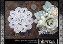お花の バテンレースB(白) ( ハンドメイド/ 手芸/ リメイク/ ワンポイント/ モチーフ)