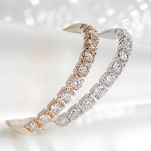ファッション ジュエリー アクセサリー レディース ゴールド イエロー ホワイト ダイヤモンド・エタニティ・ピンキー・ダイア