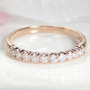 ダイヤモンド エタニティリング シンプル ジュエリー レディース イエロー ホワイト