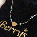 【Berry's ベリーズ】ターコイズチェーン ハートネックレス/ゴールドネックレス/シャンクチェー