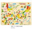 知育玩具 5歳【デビカ 木製 知育パズル 日本地図 49ピース】【あす楽】送料443円より日本製 学習 パズル おもちゃ