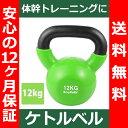 【送料無料】 ケトルベル 12kg 色:ライトグリーン 正規品/12ヶ月保証 体幹 トレーニング 筋...