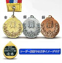 【最新レーザー文字彫刻が無料】「お得」高級金属製 メダル W-LF46-A●直経46mm