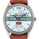 フォッシル 【FOSSIL】TIME WORKS Quality Innovation RM-2552 2552 デッドストック DEAD STOCK 腕時計 カジュアルウォッチ ヴィンテージウォッチ ブラウン BROWN【中古】