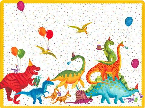 【ランチョンマット プレースマット 恐竜】Caspariプレースマット Party Saurus【プラスチック製 撥水 パーティー】