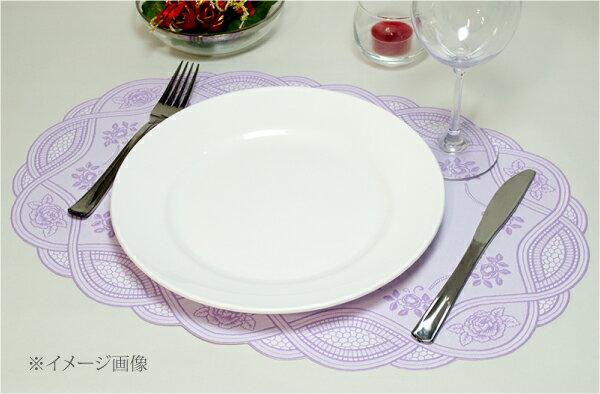 ランチョンマットプレースマットバラキッチン用品ローズオーバルランチョンマットラベンダーライトブラウン