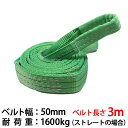 新モデル スリングベルト 幅50mm 3m 使用荷重1600kg 高品質 ナイロンスリング ベルトスリング 繊維ベルト 吊ベルト