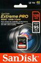 ◆△(U3対応/V30対応/4K対応)ビデオ最適SDカード【SANDISK】SDSDXXG-128G-GN4IN  (95MB/s)