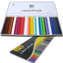 ◆色鉛筆50本セット鉛筆の長さ約17.5cm【◇】デラックス色鉛筆セット 50色