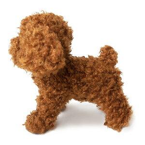 犬 トイプードルのぬいぐるみ レッド 茶 プレミアム