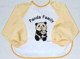 以长袖吃饭用围裙(奶油)[立体口袋]熊猫父母和子女花样随意挑选2张(件)以上(邮件投递)[長袖食事用エプロン(クリーム)[立体ポケット]パンダ親子柄よりどり2枚以上で(メール便)]