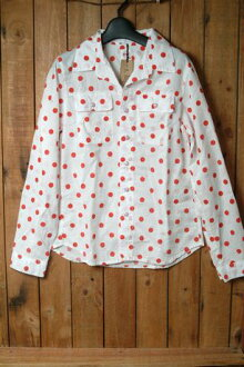 SALE sale Lady's dot pattern western shirt